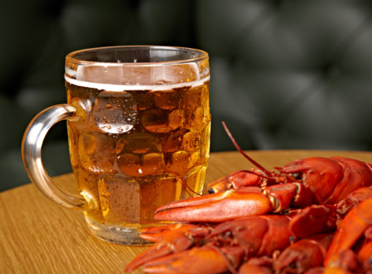 Crayfish with beer