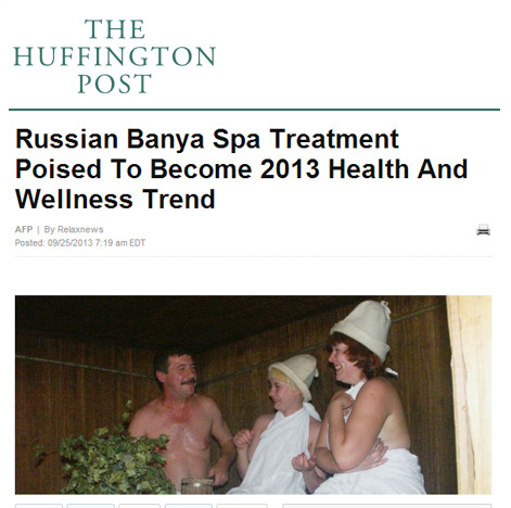 Russian Banya Spa Treatment Poised To Become 2013 Health And Wellness Trend