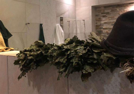 Banya No.1 Parenie using leafy and fragrant bundles of birch, oak and eucalyptus twigs