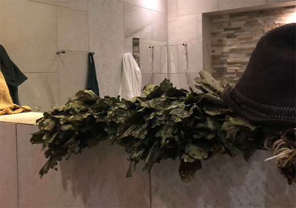 Banya No.1 Parenie using leafy and fragrant bundles of birch, oak and eucalyptus twigs