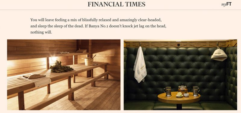 Financial Times about Banya No.1