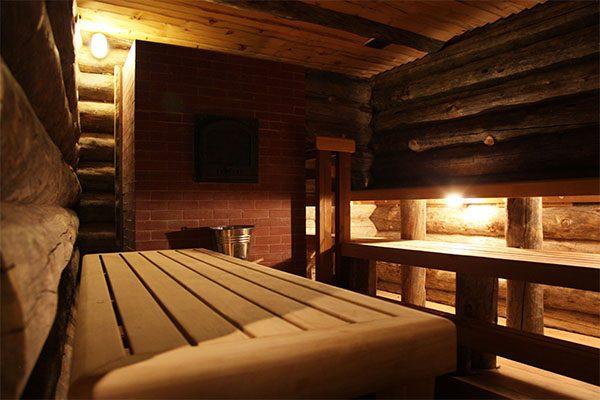 Inside private banya Taiga