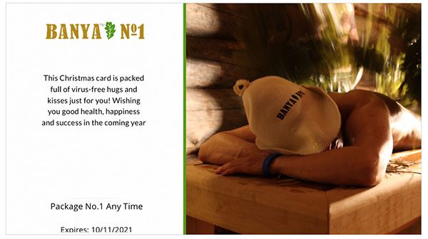 Spa Gift card – Package No.1