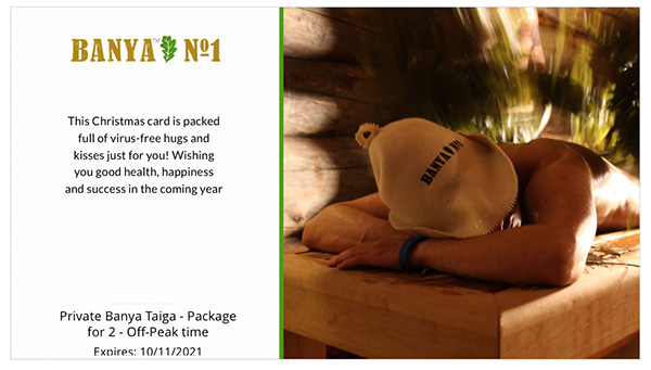 Spa Gift card – Private banya experience
