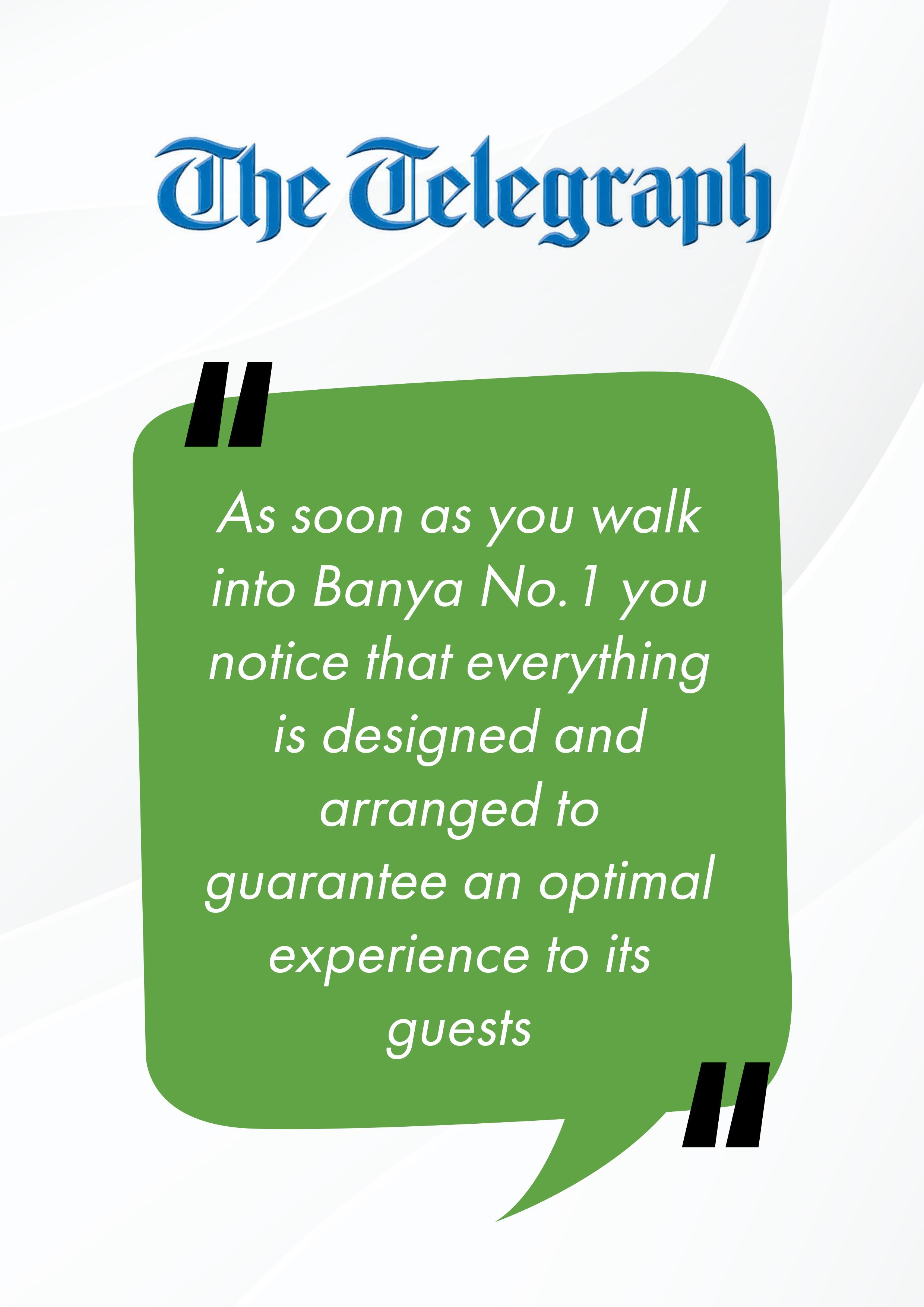 The Telegraph about Banya No.1